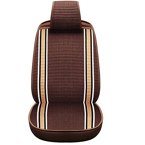 A Full Set of Universal Seats for Silk-Woven 5-Seat Cars (2 Front Seats And 3 Rear Seats) for Cars Pickup Trucks Off-Road Vehicles MPV,Brown: