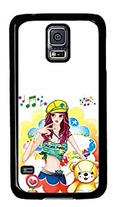 Samsung Galaxy S5 Cases & Covers - Popular Girl Illustration PC Custom Soft Case Cover Protector for Samsung Galaxy S5 - Black