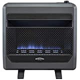 Bluegrass Living Bluegrass B30TPB-BB Vent Free Blue Flame Gas Space Heater with Blower and Base Feet-30,000, T-Stat Control, 30000 BTU, Black