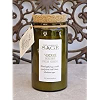 Organic Sage Bergamot & Fresh Greens Soy Candle FREE Shipping purchases over $35