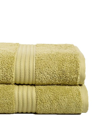 Chortex 100% Combed Cotton 35'' x 60'', Bath Sheet (Pack of 2) Olive by Chortex (Image #1)