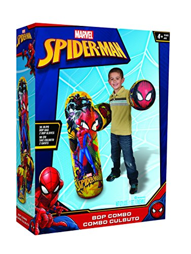 (Hedstrom Spider-Man Bop Combo Inflatable Punching Bags and Gloves, 36