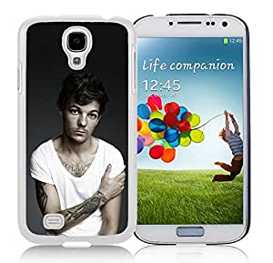 Fashionable Samsung Galaxy S4 Case Design with Louis Tomlinson in White