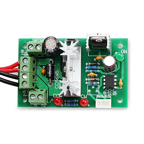Precision Dc Motors (DROK DC Motor Speed Control 6V-30V 10A 200W PWM Controller 6V 12V 24V 30V Support PLC Control with Positive Inversion Switch)