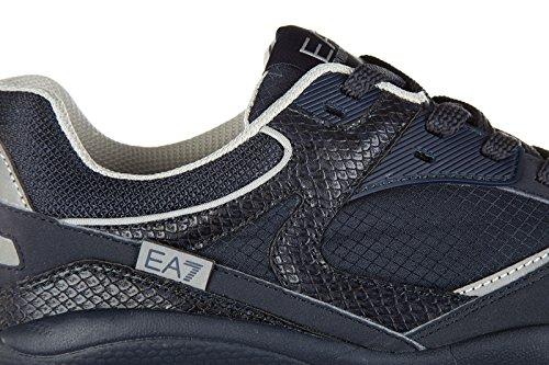 Emporio Armani EA7 scarpe sneakers uomo nuove originale 90m blu