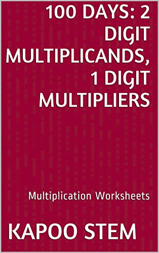 Amazon.com: 100 Multiplication Worksheets with 2-Digit ...