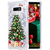 Flocute Galaxy Note 9 Case, Galaxy Note 9 Glitter Chrismas Case Bling Sparkle Floating Liquid Soft TPU Cushion Luxury Fashion Girly Women Cute Case for Samsung Galaxy Note 9 (Christmas Tree)
