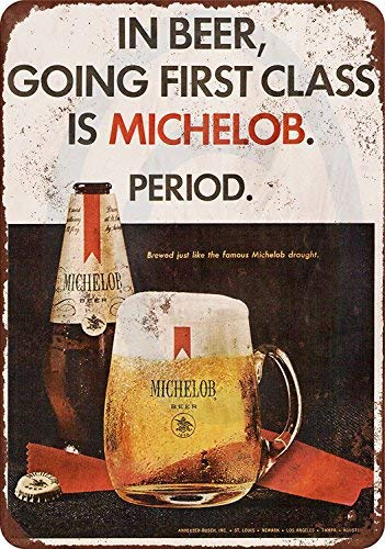 qidushop 1967 Michelob Beer Vintage Look Reproducción Metal Señales Decorativas para Mujeres Póster de Pared Estaño Sign Present 30 x 45 cm