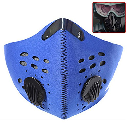 Natuce Outdoor Sports Motorcycle Bicycle Cycling Ski Half Face Mask Wind /Dust/ Cold-Proof Face Mask with Filter - (Funny Face Masks)