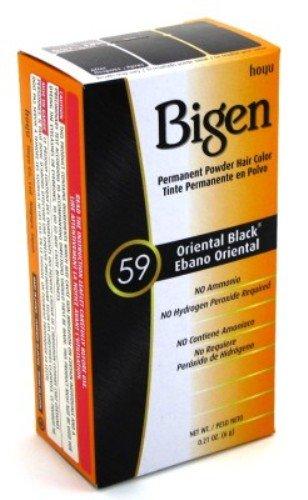 Bigen Powder Hair Color #59 Oriental Black 0.21oz (3 Pack)