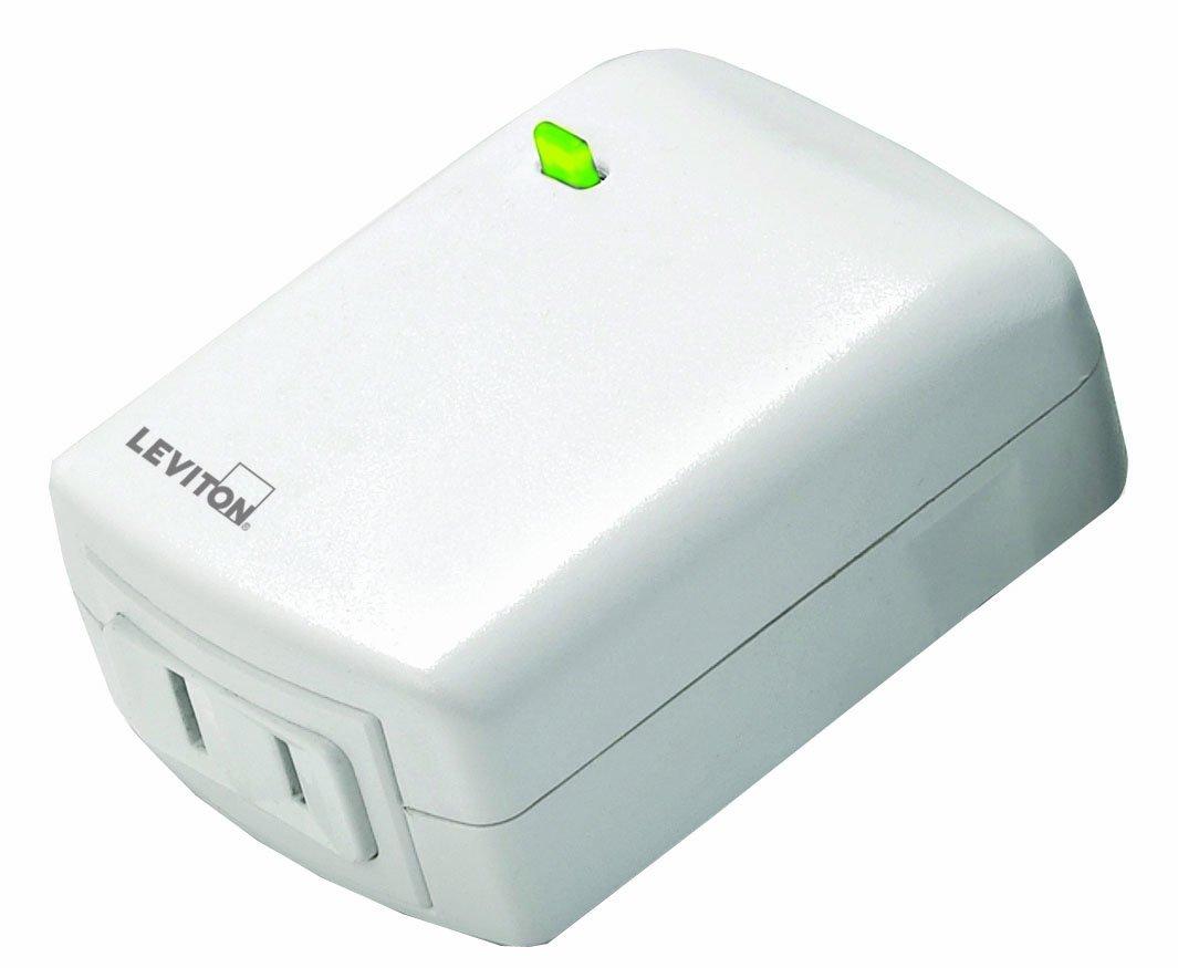 Leviton VRPD3-1LW Vizia RF + Series 300 Watt Scene Capable Plug-In Lamp Dimming Module, White, Works with Alexa