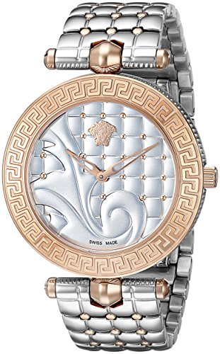 Versace Womens Vk7230015 Vanitas Analog Display Swiss Quartz Two Tone Watch