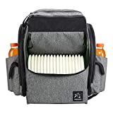 Prodigy Disc BP-1 V2 Disc Golf Backpack Bag - Fits 30+ Discs - Pro Quality (Heather Gray/Black, Rainfly)