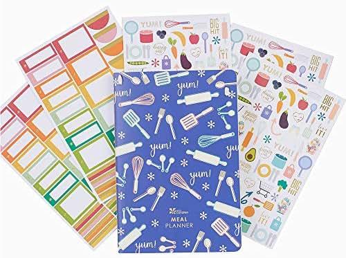 Erin Condren Designer Petite Planner Bundle - Meal Planner Bundle with Stickers (Includes Meal Planner with Illustrative and Functional Stickers)