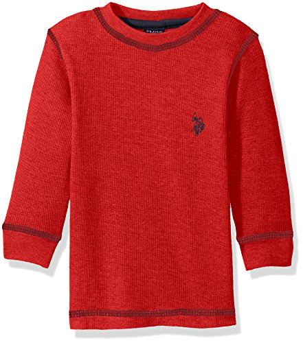 U.S. Polo Assn. Little Boys Long Sleeve Thermal Pullover