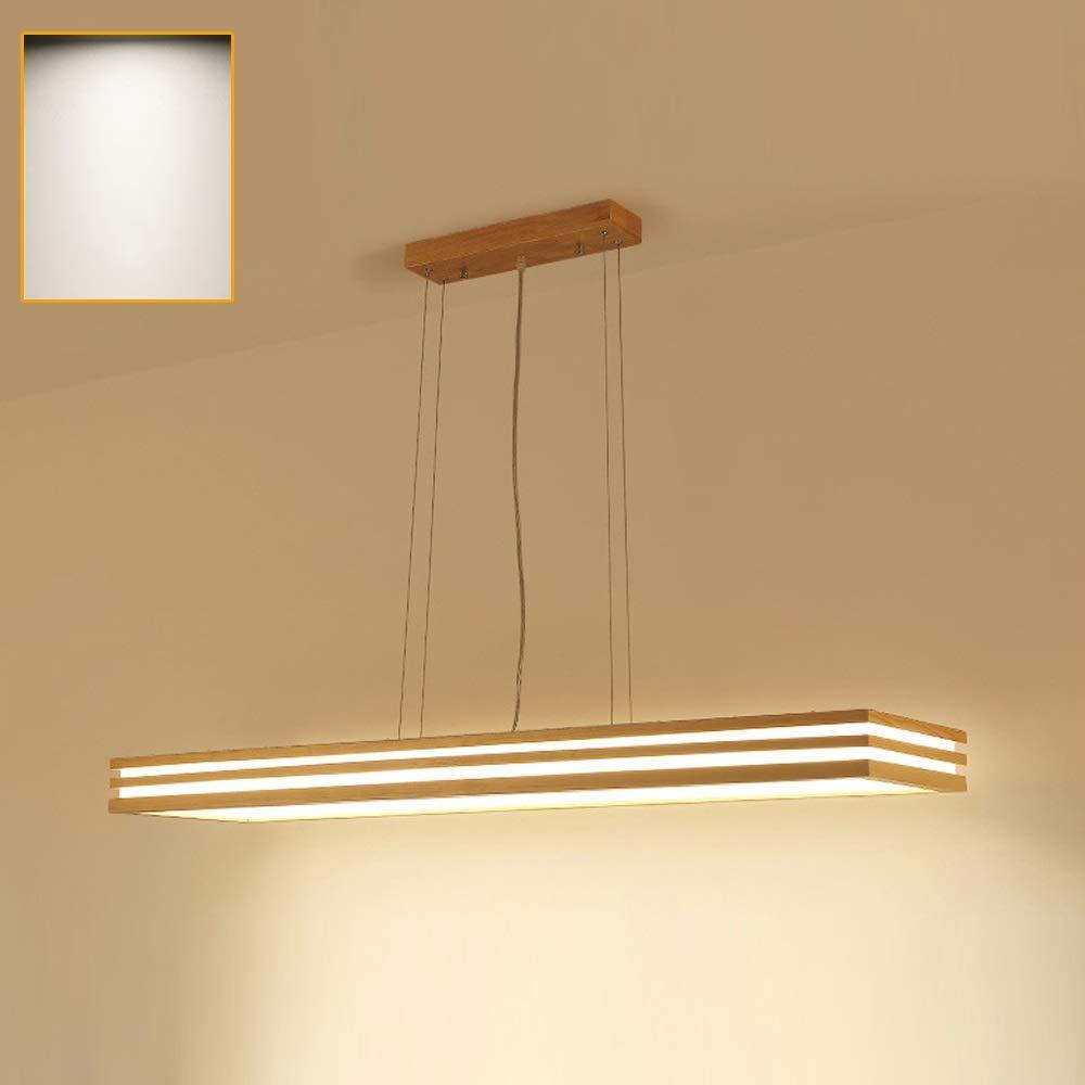 Gaohx log solid wood led chandelier ceiling light wooden light