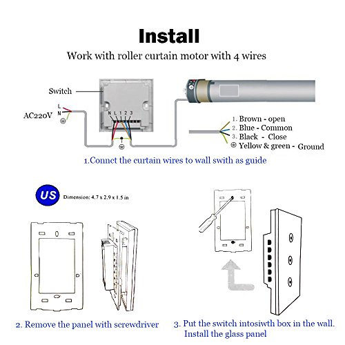 US Type Wifi Smart Curtain Motor Switch APP or Voice Control by Alexa Echo AC110 to 240V Work with Electric Roller Blinds Curtains Motor with Control Wires Home Automation IFTTT by zemismart (Image #5)