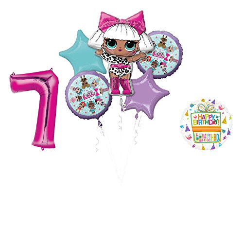 L.O.L. Surprise! Party Supplies 7th Birthday Balloon Bouquet -