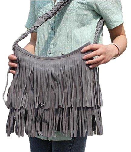 morado las de gris gris borlas bolsa 2 mujeres amarillo negro niveles Aimerfeel de ante con o en WOxapp