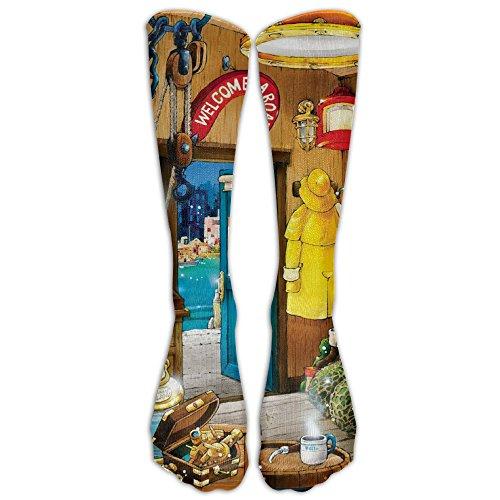 Harbor Master By Hiro Athletic Tube Stockings Women's Men's Classics Knee High Socks Sport Long Sock One Size - Boys Hiro Classic Costumes