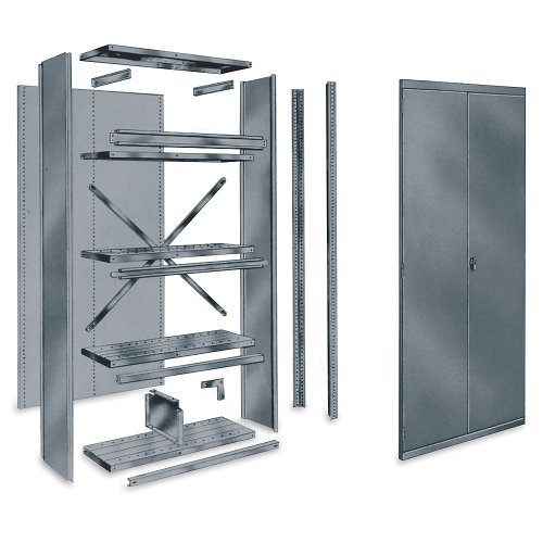 Shelf Divider, 18 In.D, 9 In.H, Gray