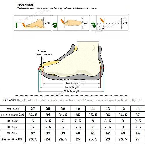 media Zapatos más pantorrilla correr de de botas zapatos negro cuero tamaño de combate de grande tacón cordones un cuero bajo hombre bloque de xZxFCr