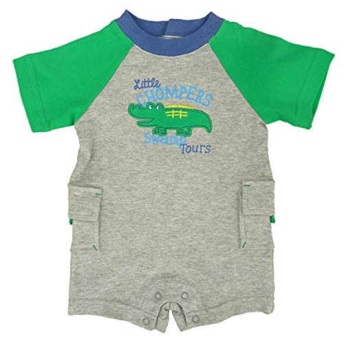 Little Wonders Infant Boys Little Chompers Alligator Romper NB