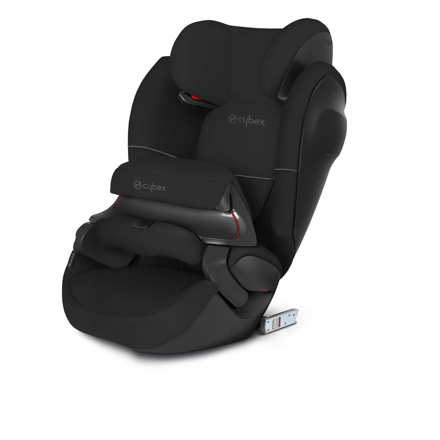 Cybex Silver Pallas M-Fix SL, 2-in-1 Child's Car Seat, High Back Booster, Adjustable Impact Safety Shield and ISOFIX Compatible, Group 1/2/3 (9-36 kg), From Approx 9 Months - 12 Years, Pure Black