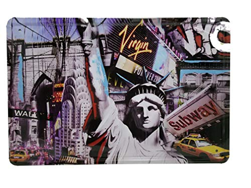 Plate Souvenir Wall (New York City Souvenir Vintage Metal Plate Tin Frame Décor Statue Liberty Wall Arts Home Decorations Office Bedroom Living Room Wedding Party Modern Gifts (Subway))