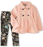 Calvin Klein Baby Girls' Jacket Set, Peach, 3-6M
