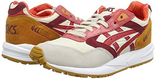 Asics Gelsaga - Zapatillas de estar por casa Mujer Blanco (Off-White/Red 0223)