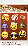Emoji Party Supplies - Emoji Faces Photo Booth Props, 8pc