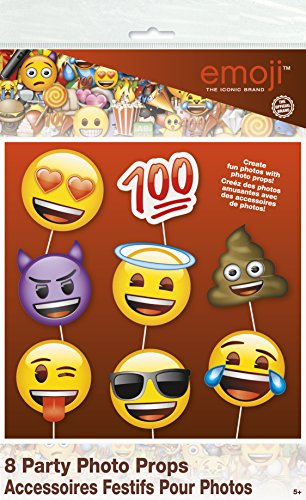 Emoji Party Supplies - Emoji Faces Photo Booth Props, - Sunglass Emoji Snap