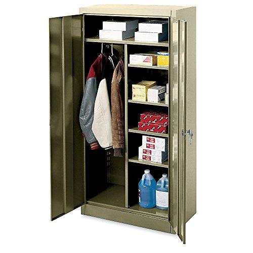 Edsal 3004TN Steel Heavy Duty Industrial Strength Deluxe Combination Wardrobe Cabinet, 5 Levels, Easy to Assemble, 36