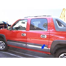 """2002-06 Chevy Avalanche W/Fender Flare Rocker Panel Chrome Stainless Steel Body Side Moulding Molding Trim Cover 6"""" 10PC"""