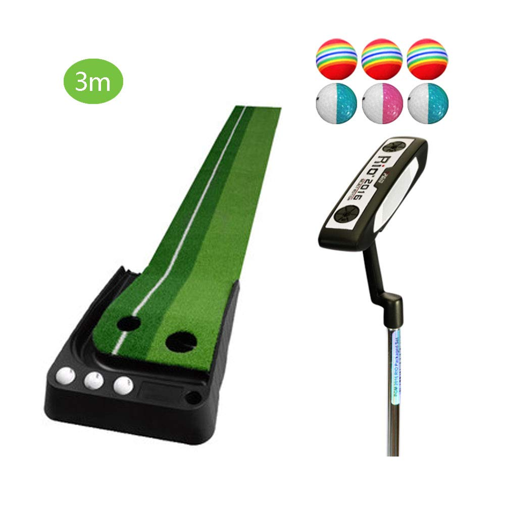 TESITEゴルフパッティング練習子供大人用練習マットセット(3m×41cm)   B07L1KLPVN