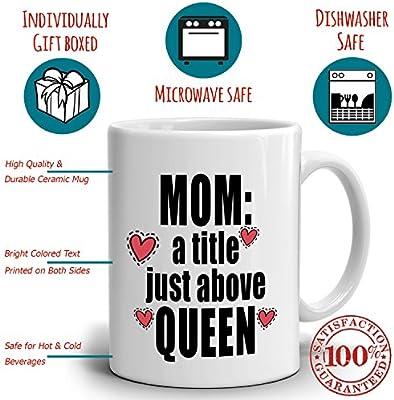 Amazon.com: Funny Día de la Madre Cumpleaños Regalos Taza ...
