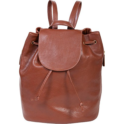 Scully Ladies Ranchero Leather Backpack Handbag (Tan) by Scully