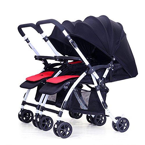 Zwillingskinderwagen nebeneinander  LZTET Geschwister Zwillings Kinderwagen Für Babys und Kleinkinder ...