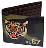 Polo Ralph Lauren Men's Leather Wallet Camo Army Tiger