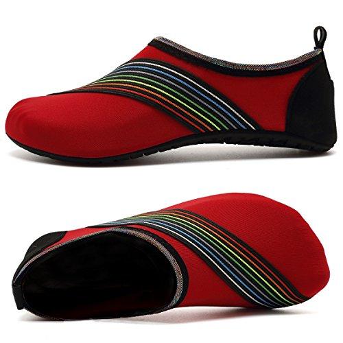 VIFUUR Wassersport Schuhe Barfuß Quick-Dry Aqua Yoga Socken Slip-On für Männer Frauen Kinder Xidaired