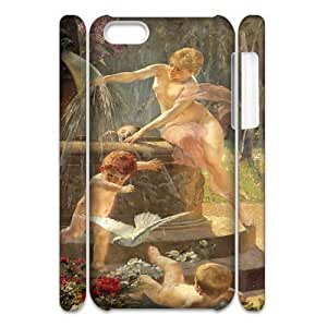 lintao diy Cell phone 3D Bumper Plastic Case Of Cupid Cherub For iPhone 5C