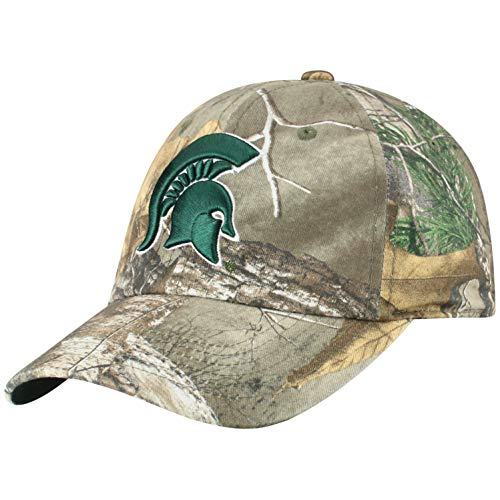 Top of the World NCAA Men's Real Tree Camo Adjustable Icon Hat, Michigan State Spartans