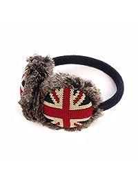 Winter Soft Faux Fur Adjustable UK Union Jack Earmuffs Ear Warmers