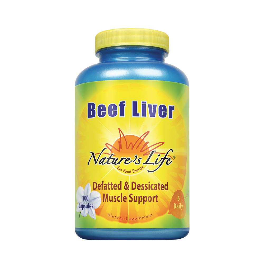 Nature's Life Beef Liver, Defatted & Dessicated,   1500 Mg, 100 Capsules by Nature's Life