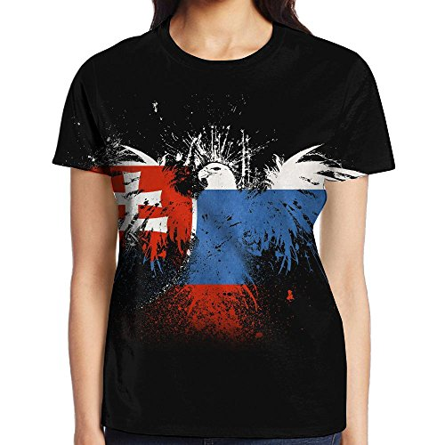 WANING MOON Flag Of Slovakia Women's Duplex Printing Short Sleeve All Printing Picture - Slovakia Pictures Of