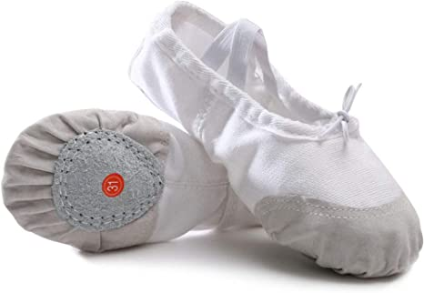 SKYROPNG Ballet Shoes Girls,White