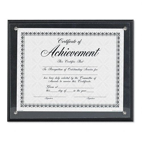 DAX : Award Plaque, Wood/Acrylic Frame, fits up to 8-1/2 x 11, Black -:- Sold as 2 Packs of - 1 - / - Total of 2 Each