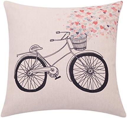 breezylife primavera bicicleta manta funda de almohada flores ...