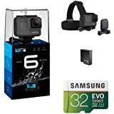 GoPro HERO6 Black w/Head Strap, Battery and Memory Card